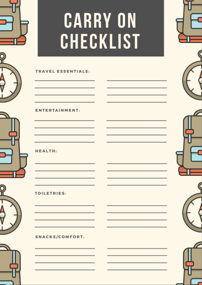 carry on checklist
