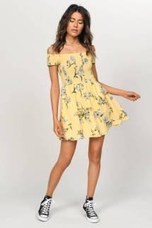 yellow-multi-gemma-smocked-floral-skater-dress