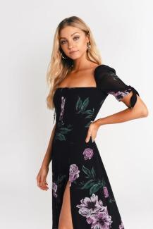 black-multi-feelin-floral-side-slit-midi-dress